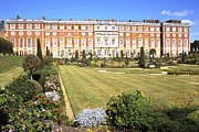Hampton Court Prints - Side view of Hampton Court Palace Gardens London England Print by House Of Joseph Photography