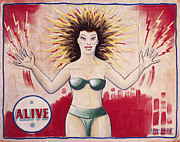 Freak Art - SIDESHOW POSTER, c1965 by Granger