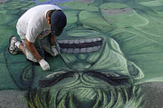 The Hulk Posters - Sidewalk Art 4 Poster by Bob Christopher