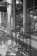 Table And Chairs Framed Prints - Sidewalk Cafe - Afternoon Shadows Framed Print by Suzanne Gaff