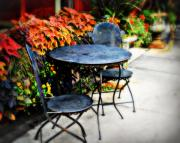 Dine Prints - Sidewalk Cafe Print by Perry Webster