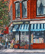 Store Window Display Paintings - Sidewalk Sale by Linda Marcille