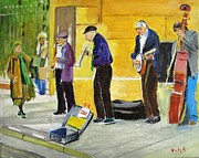 Music Pastels - Sidewalk Serenade by Judy Kay
