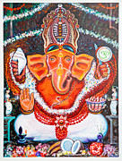 Vinayak Framed Prints - Sidhi Vinayak - The remover of all obstacles Framed Print by Narayan Mayya