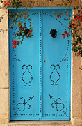 Entrance Door Digital Art Prints - Sidi Bou Said Tunisia Blue Door Print by Eva Kaufman