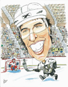 Nhl Drawings Prints - Sidney Crosby caricature Print by Paul Nichols