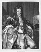 Godfrey Framed Prints - SIDNEY GODOLPHIN (1645-1712). First Earl of Godolphin. English statesman. Stipple engraving after Sir Godfrey Kneller Framed Print by Granger