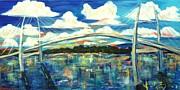 Sidney Lanier Bridge Print by Doralynn Lowe
