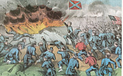 4th July Art - Siege And Capture Of Vicksburg, 1863 by Photo Researchers