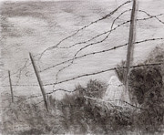 World War 2 Drawings Prints - Siege Of Leningrad Wire Relict 2 Relict Print by Alex Mortensen