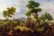Camp Paintings - Siege of Paris by Henri IV by Guillaume Frederic Ronmy