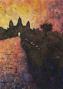 Angkor Paintings - Siem Reap Sunrise 3 by Ryan Fox