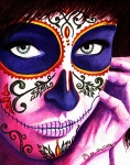 Day Of The Dead Painting Posters - Siempre en mi Mente  Poster by Al  Molina