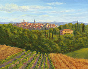 Siena Paintings - Siena Italy from the Villa by Elaine Farmer