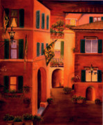 Street Scene Pastels - Siena by Leah Wiedemer