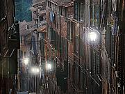 Streetlights Prints - Siena street lamps Print by Jim Wright