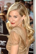 Dangly Earrings Posters - Sienna Miller At Arrivals For Screening Poster by Everett