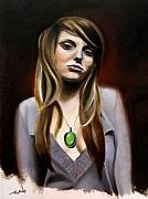 Celeb Painting Framed Prints - Sierra Klusterbeck Framed Print by Matt Truiano