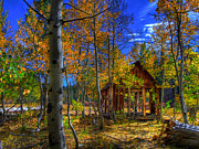Americana Photos - Sierra Nevada Fall Colors Barn by Scott McGuire