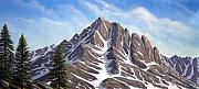 Snow Capped Mountains Framed Prints - Sierra Peaks Framed Print by Frank Wilson