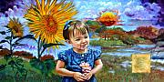 Little Girl Prints - Sierra Rose Print by John Lautermilch