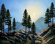 Gouache Paintings - Sierra Sentinals by Frank Wilson