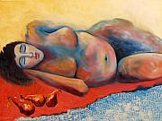 Nudes Painting Prints - Siesta Desnuda Print by Niki Sands