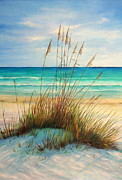Sand Dunes Paintings - Siesta Key Beach Dunes  by Gabriela Valencia