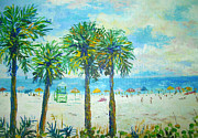Siesta Key Paintings - Siesta Key Beach by Lou Ann Bagnall