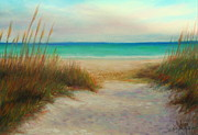 Picture Pastels Framed Prints - Siesta Key Scene Framed Print by Gabriela Valencia