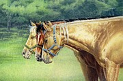 Quarter Horses Originals - Siesta Time by Carrie L Lewis