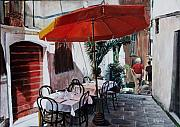 Alleyway Paintings - Siesta Time by Jennifer Lycke