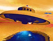 Ufo Posters - Sighting Poster by Deborah MacQuarrie