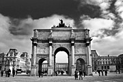 Daylight Acrylic Prints - Sightseeing at Louvre Acrylic Print by Elena Elisseeva