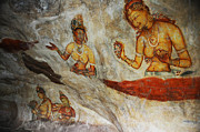 Sri Lanka Photos - Sigiriya Fresco. Sri Lanka by Jenny Rainbow