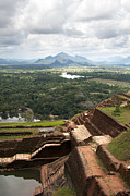 Ruin Metal Prints - Sigiriya ruins Metal Print by Jane Rix