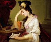 Literature Paintings - Sigismonda and the Heart of Guiscardo by Moses Haughton