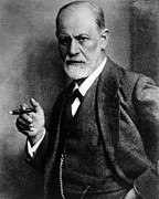 Freud Framed Prints - Sigmund Freud 1856-1939, Photograph Framed Print by Everett