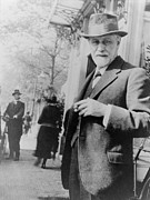 Freud Art - Sigmund Freud 1856-1939, Standing by Everett