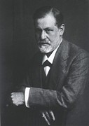 Freud Prints - Sigmund Freud 1856-1939, With Arms Print by Everett