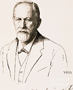 Bad Drawing Photo Posters - Sigmund Freud, Father Of Psychoanalysis Poster by Science Source