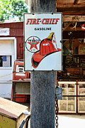 Gas Pump Posters - Sign - Fire Chief Gasoline Poster by Paul Ward