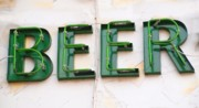 Noticeable Posters - Sign Advertising Beer Poster by Yali Shi