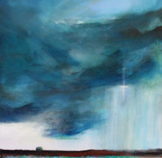 Storm Prints Painting Posters - Sign From Above Poster by Toni Grote