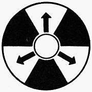 Cold War Framed Prints - Sign: Nuclear Radiation Framed Print by Granger