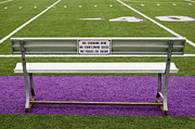 Sidelines Framed Prints - Sign on Athletic Field Bench Framed Print by Andersen Ross
