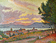 St.tropez Photo Framed Prints - Signac: St Tropez, 1896 Framed Print by Granger