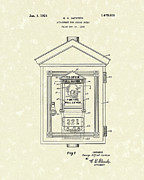 Jackson Drawings Prints - Signal Box 1924 Patent Art Print by Prior Art Design