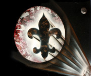Fleur Di Lis Painting Prints - Signal Di Lis Print by Tbone Oliver