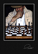 Chessmen Acrylic Prints - Signature Collection Fine Art Card - YOUR MOVE Acrylic Print by Andrew Wells